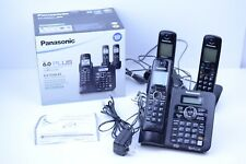 Panasonic KX-TG6643B DECT 6.0 Cordless Phone with Answering System - 3 Handsets