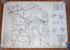 Bastrop County Texas Highway Map 2982 Rare 18x25