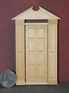 Dollhouse Miniature Front Door Houseworks 1:24 half in Scale D20 Dollys Gallery