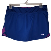 CG by Champion Womens Large Blue Tennis Skirt Built In Shorts Athletic Skort L