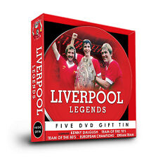 LIVERPOOL FC LEGENDS - FIVE DVD GIFT TIN - KENNY DALGLISH, TEAM OF THE 70'S MORE