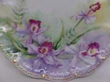 Antique T&V Limoges Century Hand Painted & Dated Orchid Plate!