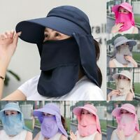 Summer Sun Hats Women UV Protection Fishing Cap Outdoor Hat Face Neck Cover Cap