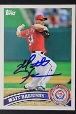 Texas Rangers Matt Harrison Signed 2011 Topps Autograph Card #432 TOUGH 106