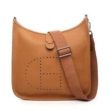 Pebbled Italian Leather Evelyne Type H Shoulder Bag Handbag 2 sizes