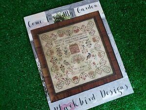 Come Into My Garden - Cross Stitch Pattern by Blackbird Designs