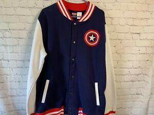 Captain America Avengers Marvel Mens Jacket Size XL