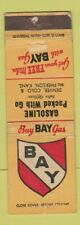 Matchbook Cover - Bay oil gas Denver Colorado McPherson KS WORN