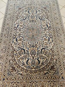 Beautiful pers Naien wool hand knotted carpet rug 244 x 153 cm size