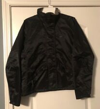 Nike Women's Black Jacket Nylon vented back mesh polyester lining Medium, 8-10
