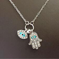 Fatima Palm Necklace Evil Eye Hamsa Hand Chain Pendant Jewelry For Women NewM&C