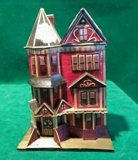 Hand Crafted Balsa Wood House Secret Trinket Box #1