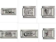 UK Classic Italian Charm fits Nomination 9mm Charm Bracelets Various Design UK