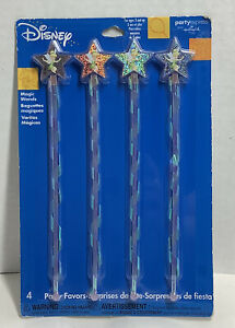 Hallmark Disney Tinker Bell Magic Wands Plastic Party Favors NEW Pack of 4 Toys