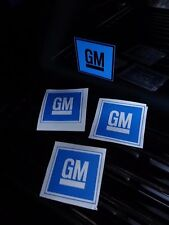 4x GM General Motors Decals Stickers Work Shop Garage Wall Sign Logo Car Window