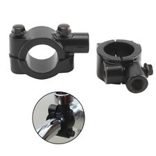 "Motorcycle Handlebar Mirror Adaptor clamp on mount Bracket 10mm Thread 7-8"""