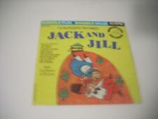 Jack and Jill-10 Nursery Rhymes~Near Mint Wonderland Childrens 45+Picture Sleeve