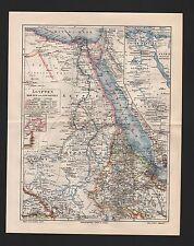 Carte MAP 1905: l'égypte Dar pour et l'Abyssinie. nord-Afrique Africa Colonie 6