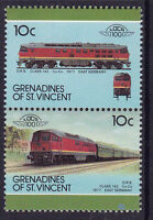 GRENADINES OF St VINCENT LOCO 100 DRB CLASS 142 LOCOMOTIVE EAST GERMANY STAMPS