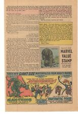 Marvel Value Stamp #22 Man-Thing 1974 Advertisement