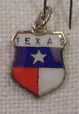 Vintage REU Sterling/Enamel Texas State Flag Bracelet/Travel Charm - NOS
