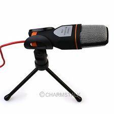 1PC Professional Podcast Studio Microphone w/Stand Skype Webcast Youtube Video