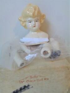 "SALLY A 13"" Antique Reproduction China Head Doll Making Kit with Instructions"