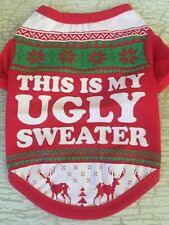 XS UGLY SWEATER T-Shirt Dog Clothes NEW! Little Dog Puppy CUTE!