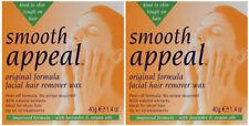 Smooth Appeal Original Formula Facial Hair Remover Removal Hard Wax Waxing Kit