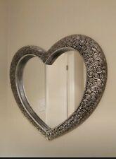 67*58cm Antique Heart wall mirror Resin Style Silver Mirror Bathroom mirror