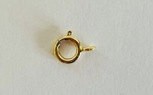 9ct Yellow Gold 5mm Open Bolt Ring Clasp for Chains or Bracelets 375