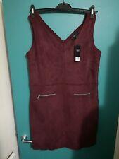 Next Womens Velvet Dress, Red (Burgundy), Size 16