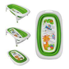 Baby Bath Time Foldable Splash & Play Green Giraffe Design Transportable BathTub