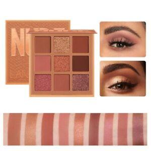 9 Color Eyeshadow Palette Matte Shimmer Nude Shine Glitter Makeup Cosmetic Kit