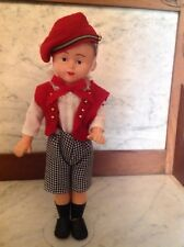 "Vintage Boy Doll ,Hard Plastic, Unmarked 11 1/2 "" Cute!"