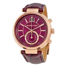 Michael Kors Sawyer Chronograph Plum Dial Ladies Watch MK2580