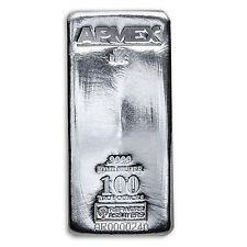 100 oz Silver Bar - APMEX/RMC (.9999 Fine, Co-Branded) - SKU #89177
