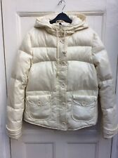 DIVIDED by H&M Women's Cream Down & Feather Hooded Warm Jacket Parka 38/10