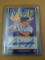 Dale Murphy 2019 Panini Donruss Optic MVP Signatures Blue Prizm Auto 1/10 Braves