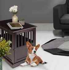 Dog Crate End Table Solid Wood Pet Kennel Indoors Stylish Safe Espresso Small