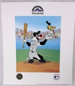 Looney Tunes McKimson ROCKIES Warner Keep Your Eye On The Tweety BASEBALL Litho