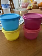Tupperware Set Of 4 Snack Cups Bowls W/ seals-NEW