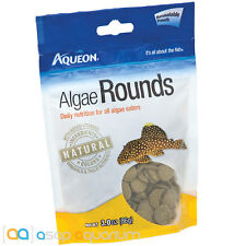 Aqueon Algae Rounds Fish Food Tablets 3oz Pouch FAST FREE USA SHIPPING