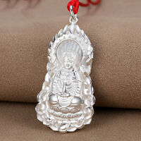 Authentic S999 Sterling Silver Blessing Kwan-Yin Pendant 43mm H