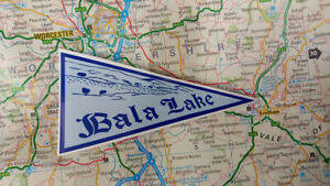 1960's Style Bala Lakes Wales Holiday Pennant  Classic Car Window Sticker