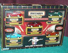 MATCHBOX FORD MUSTANG 5 CAR BOXED SET 1/64 1965 GT 1970 BOSS 1995 SVT 1968 CJ
