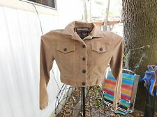 LIGHT TAN/BEIGE CORDUROY BUTTON UP SHORT JACKET BY STAR JEANS - SIZE - SMALL