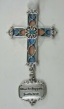 zzG Miracles happen just believe Cross Ornament stained glass look Ganz