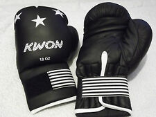 Kwon Senior Black Pro Light Boxing Gloves 12 oz Boxing Martial Arts Sparring