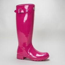 Block Wet look, Shiny Rubber Boots for Women